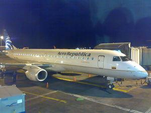 Avión Embraer de Aerorepública