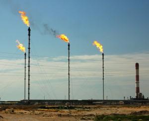 Campo de explotación de gas natural