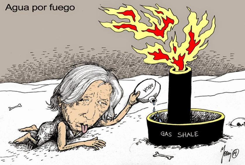 El Fracking significa morir de sed