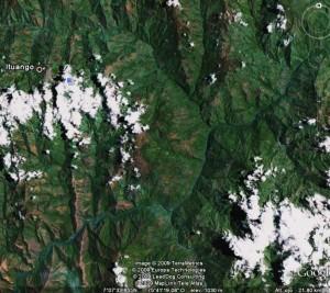 Foto Satelital de la Región de Ituango, donde se ubica la represa de Ituango