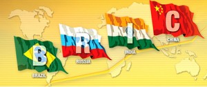 Banderas de los países del grupo BRICS