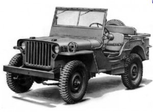 Jeep Willys de tipo militar