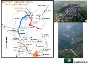 Localizacion Represa Hidroeléctrica de Ituango