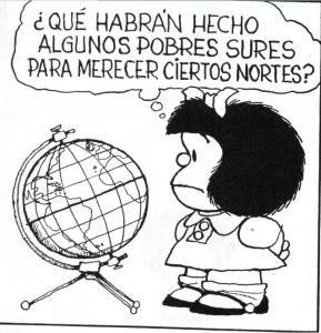 Mafalda se queja de como nos explota USA