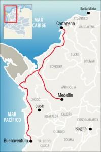 Propuesta de uniion por ferrocarril los principales puertos marítimos colombianos