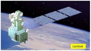 Foto del primer satélite de la serie Landsat